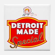 Detroit Made Special Tile Coaster