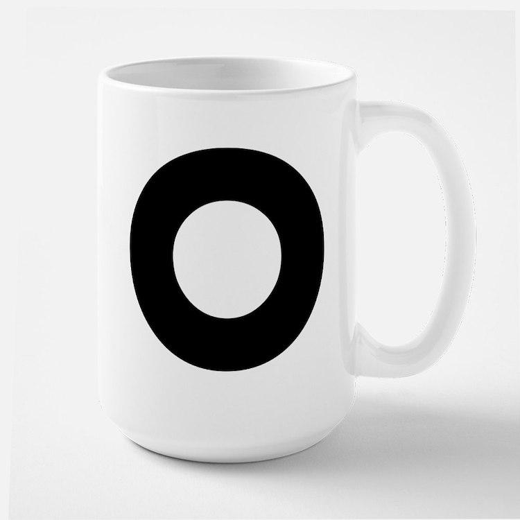 Letter O Large Mug