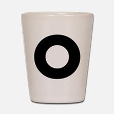 Letter O Shot Glass