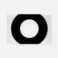 Letter O Rectangle Magnet