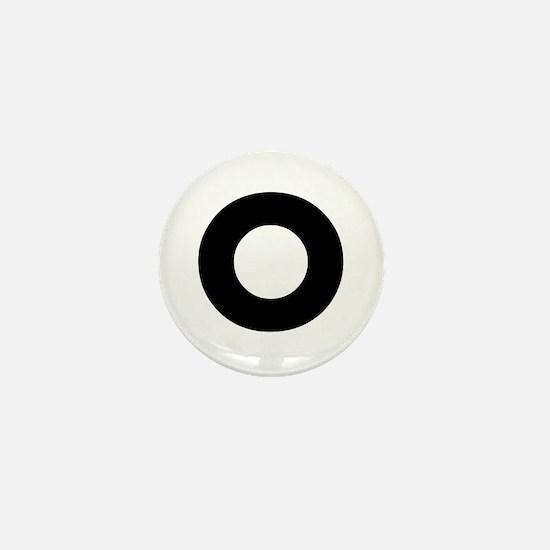 Letter O Mini Button