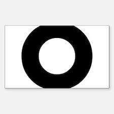 Letter O Sticker (Rectangle)