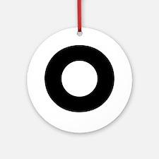 Letter O Ornament (Round)