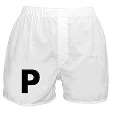 Letter P Boxer Shorts
