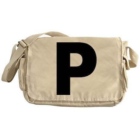 Letter P Messenger Bag