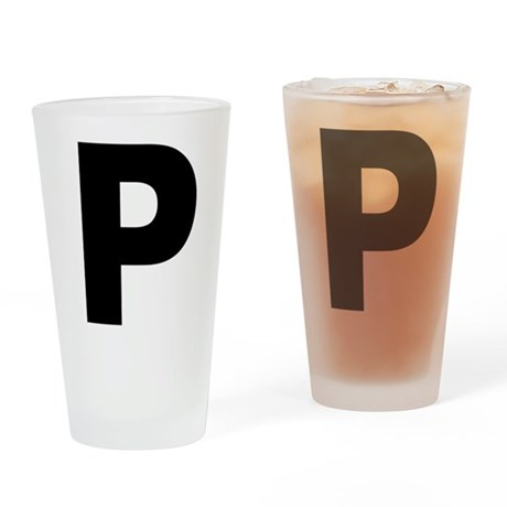 Letter P Drinking Glass