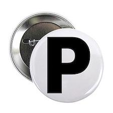 """Letter P 2.25"""" Button"""