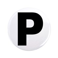 """Letter P 3.5"""" Button (100 pack)"""