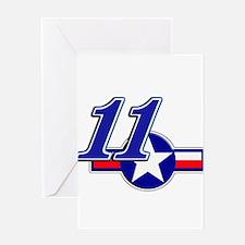 BS11StarFlag Greeting Card