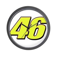 VR46Red2 Wall Clock