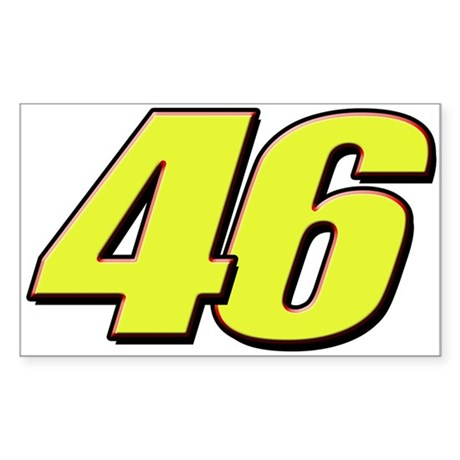 VR46Red2 Sticker (Rectangle)