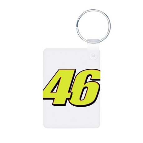VR46Red2 Aluminum Photo Keychain