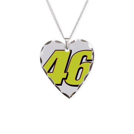 VR46Red2 Necklace Heart Charm