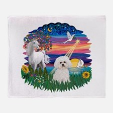 MagicalNight-Bichon#2 Throw Blanket