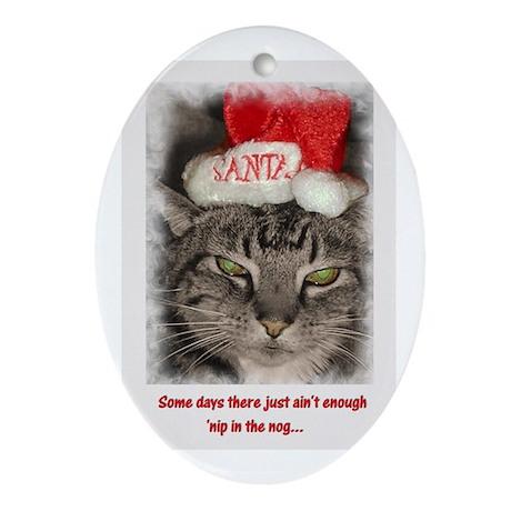 Catnip Christmas Ornament (Oval)