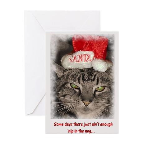 Catnip Christmas Greeting Card