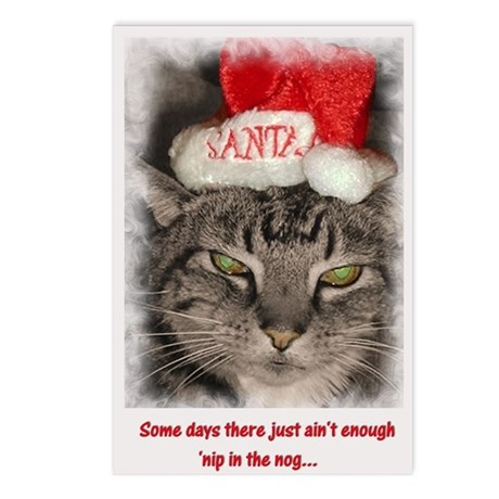 Catnip Christmas Postcards (Package of 8)