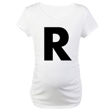 Letter R Maternity T-Shirt