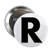 """Letter R 2.25"""" Button"""