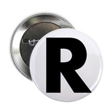 "Letter R 2.25"" Button (10 pack)"