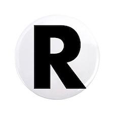"""Letter R 3.5"""" Button"""