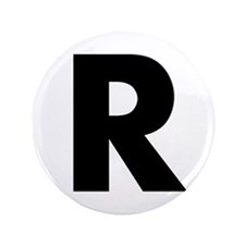 """Letter R 3.5"""" Button (100 pack)"""