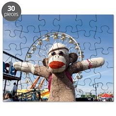 Ernie the Sock Monkey Ferris Wheel Jigsaw Puzzle