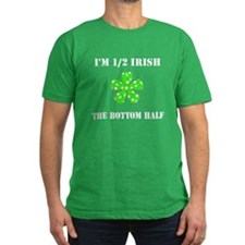Funny 1/2 Irish, the Bottom 1/2 Men Fitted T-Shirt