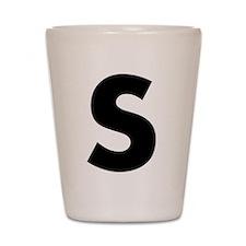 Letter S Shot Glass