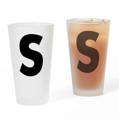 Letter S Drinking Glass