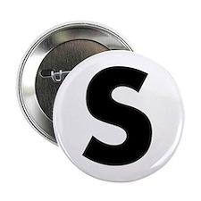 """Letter S 2.25"""" Button"""