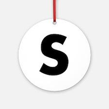 Letter S Ornament (Round)