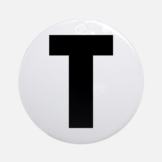 Letter T Round Ornament