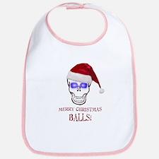 Merry Christmas Balls Bib