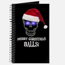 Merry Christmas Balls Journal