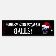 Merry Christmas Balls Bumper Bumper Sticker