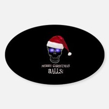 Merry Christmas Balls Decal
