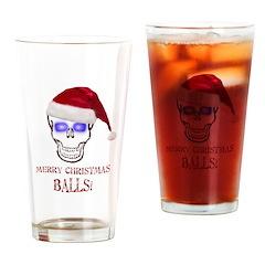 Merry Christmas Balls Drinking Glass