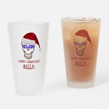 Merry Christmas Balls Drinking Glass
