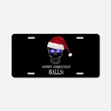 Merry Christmas Balls Aluminum License Plate