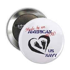 """Made by American Hero - Navy 2.25"""" Button"""