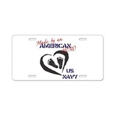 Made by American Hero - Navy Aluminum License Plat
