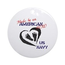 Made by American Hero - Navy Ornament (Round)