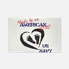 Made by American Hero - Navy Rectangle Magnet
