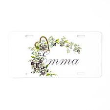 Emma Aluminum License Plate