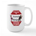 Ninja Ferret Large Mug