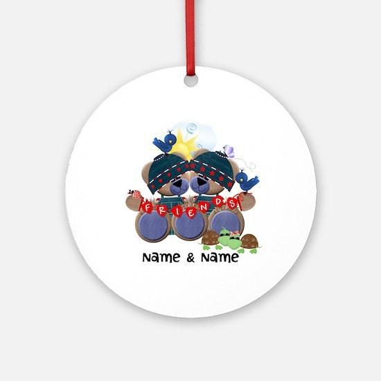 Customizable Bear Friends Ornament (Round)