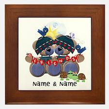 Customizable Bear Friends Framed Tile