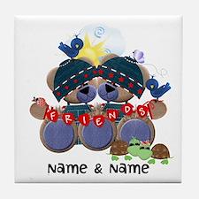 Customizable Bear Friends Tile Coaster