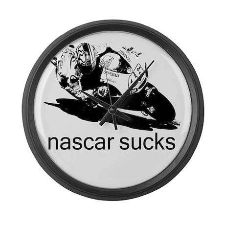 Valentino Rossi Motogp Nascar Large Wall Clock